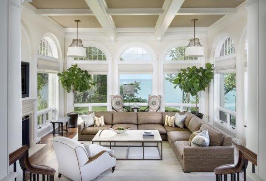 Luxurious Contemporary Sunroom Design