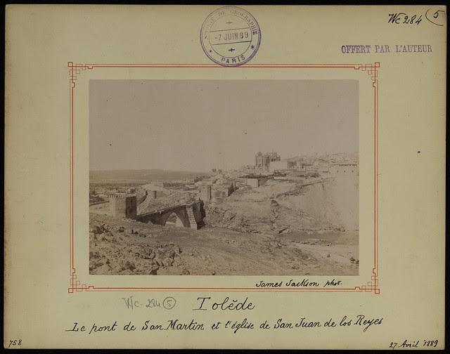 Puente de San Martín el 27 de abril de 1889. Fotografía de James Jackson. © Société de Géographie / Bibliothèque Nationale de France