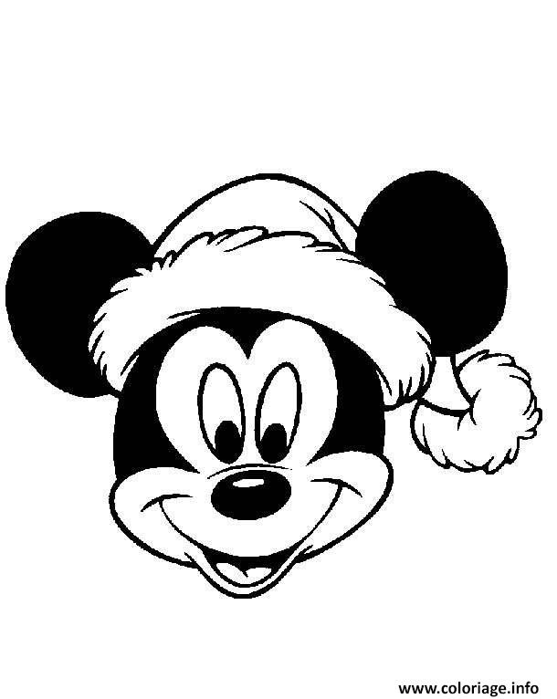 Coloriage Mickey Mouse Disney Noel 4 Jecoloriecom