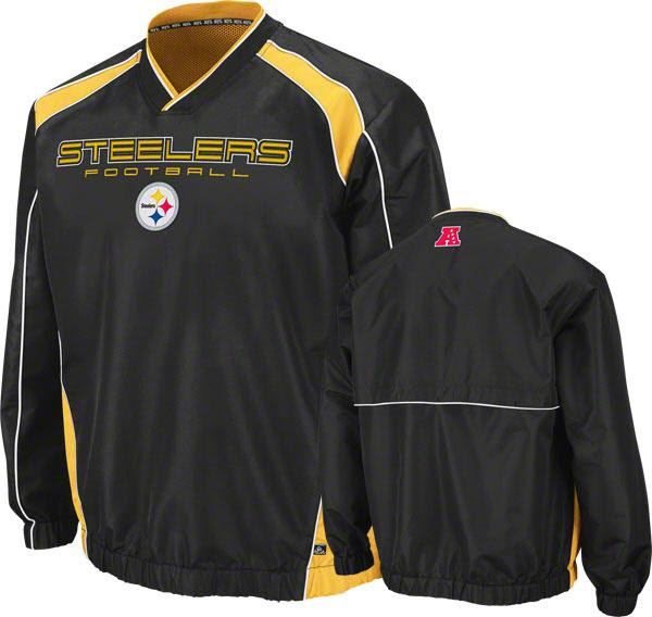 Pittsburgh Steelers Pullover Windshirt/Jacket New Mens Sz L NFL Team Apparel  eBay