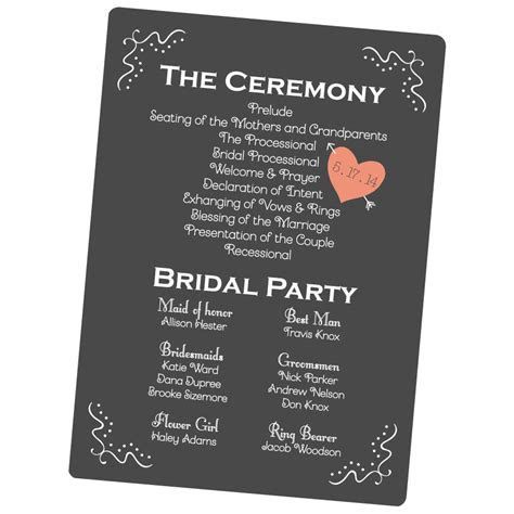 Custom Wedding Programs