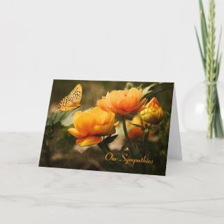 Floral Butterfly Sympathy Card