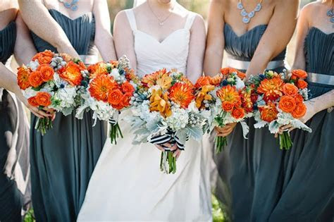 Orange and Turquoise Fall Vintage Wedding Soirée   Belle