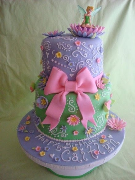 Tinkerbell Cake! OMG!! My daughter would freak out if this was her cake