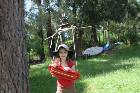 you can also backyard zip line kits btw in some countries a zip line