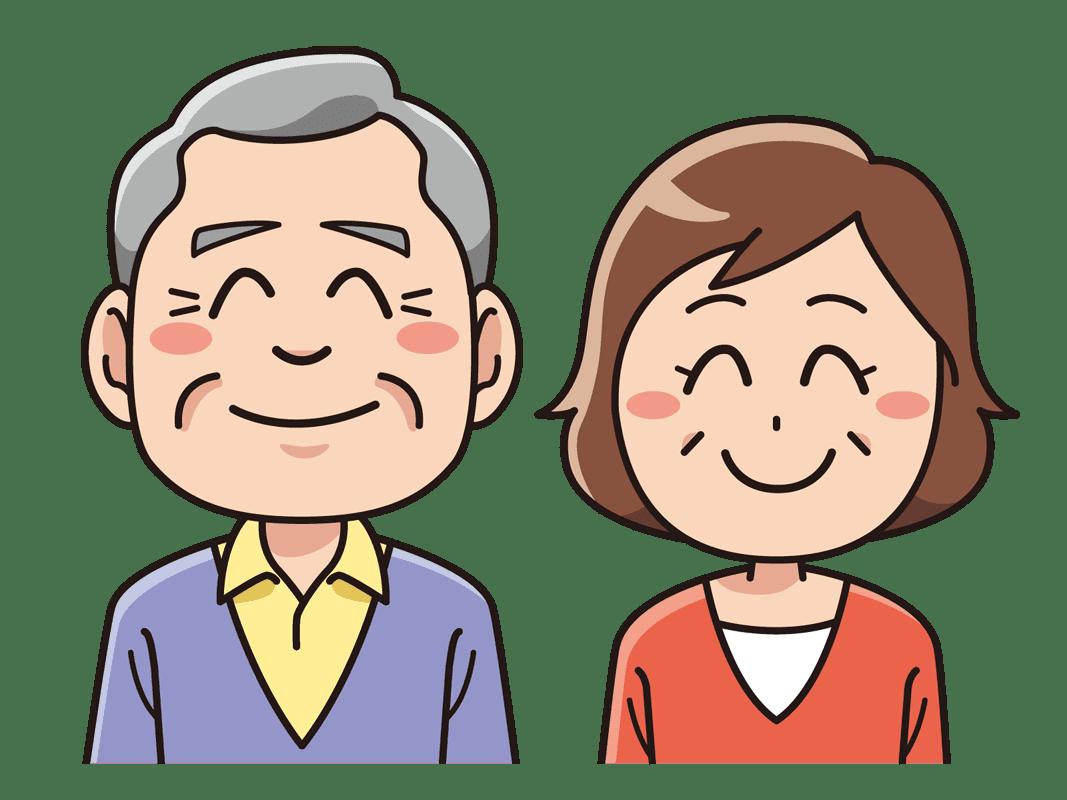 笑顔のシニア夫婦無料イラスト素材 イラスト素材図鑑