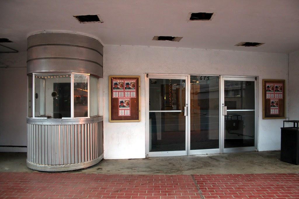 sabine theater ticket booth and entrance