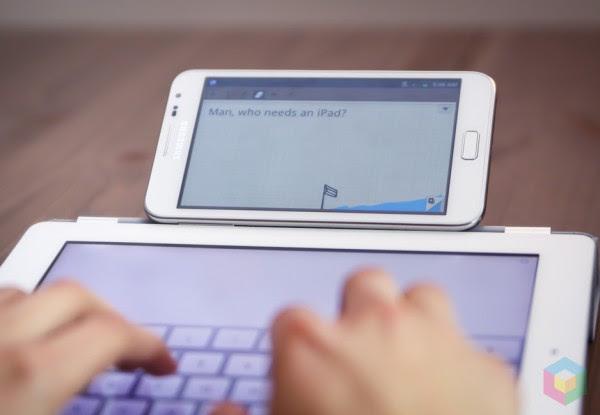 typingipad 600x415 Wofür das Samsung Galaxy Note eigentlich gebaut wurde ...