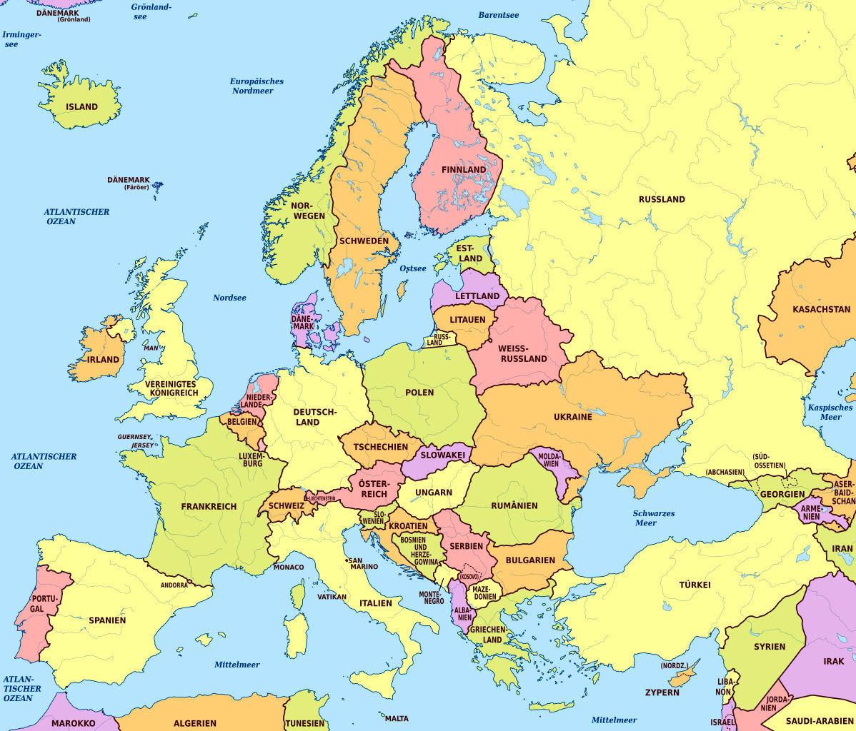 European History Map