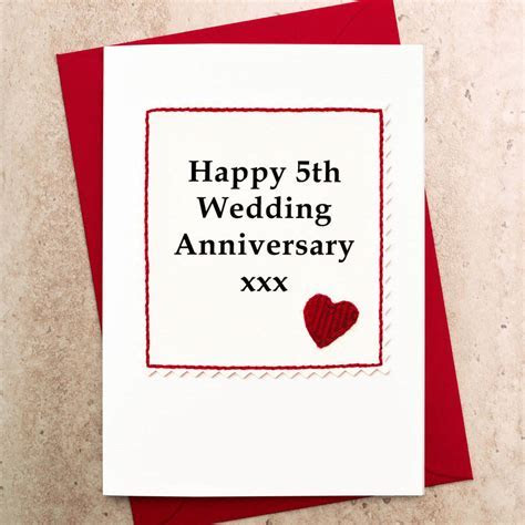 handmade 5th wedding anniversary card by jenny arnott