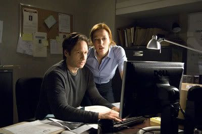 Fox Mulder (David Duchovny) and Dana Scully (Gillian Anderson) search for the truth in THE X-FILES 2.
