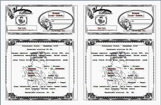 Desain Undangan Walimatul Khitan Contoh Undangan Sunatan ...