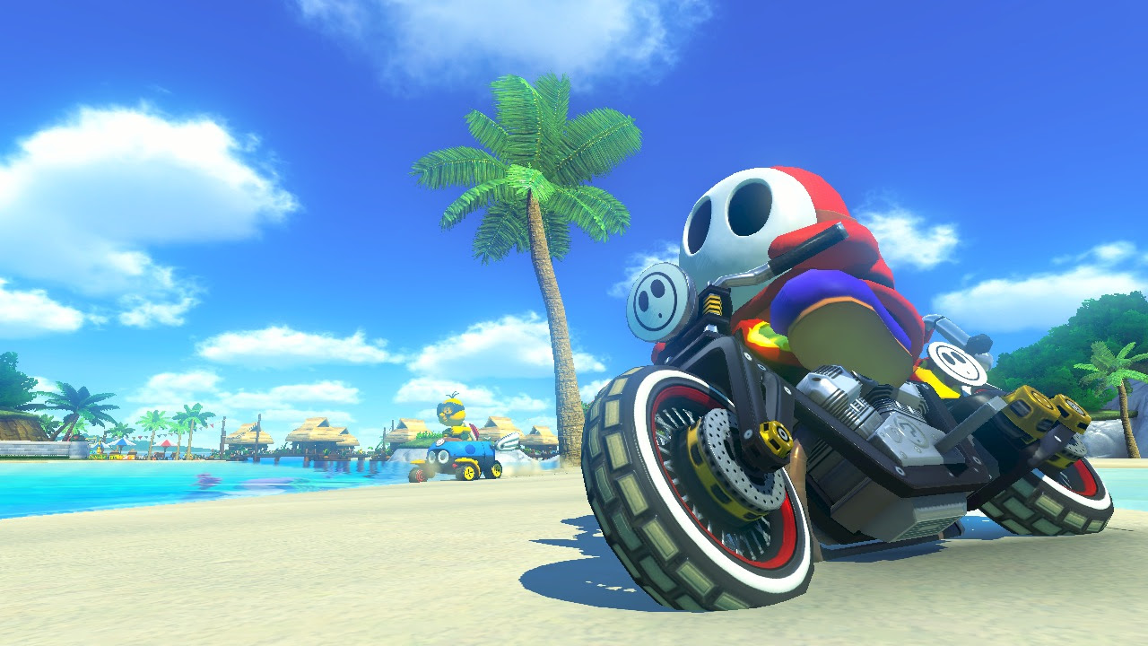 Mario Kart 8 New Features Forrest Fire Rainbow Road Remix J1