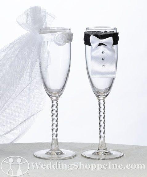 Bride & Groom Wedding Glasses #GabrielCo