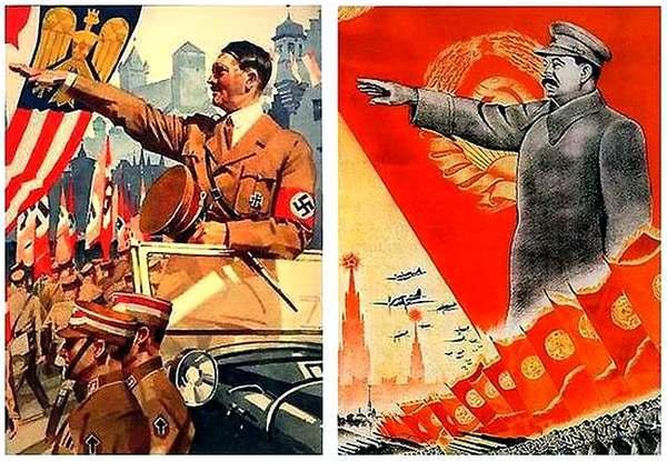 Фото:  Гитлер, Сталин и Украина