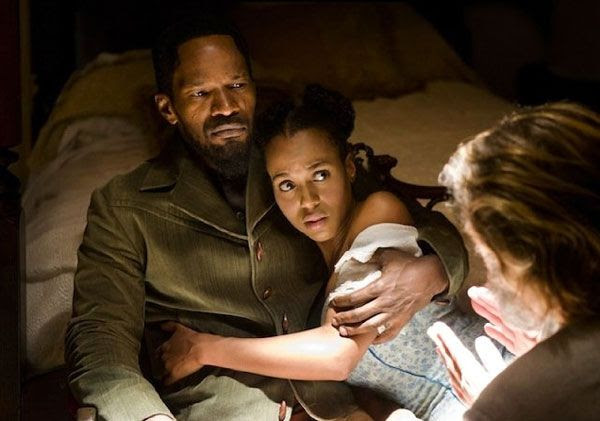 Django, Broomhilda and Dr. Schultz prepare to take on slave owners in the South in DJANGO UNCHAINED.