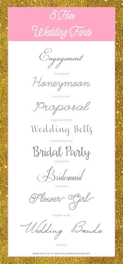 Free Wedding Fonts   Beautiful Dawn Designs   Beautiful fonts