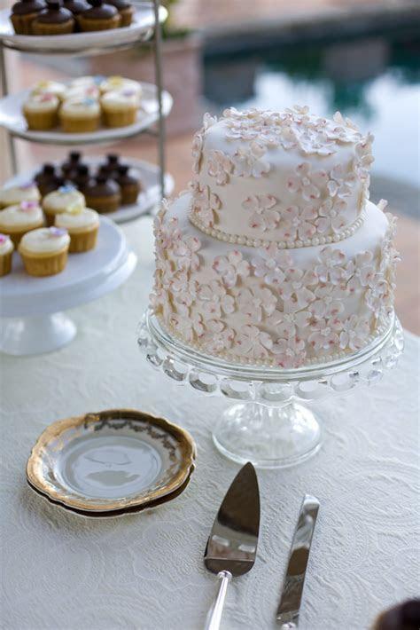 Two Tier Wedding Cake with Sugar Flowers   Elizabeth Anne