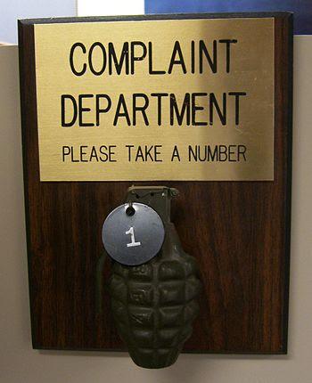 Complaint Department Grenade