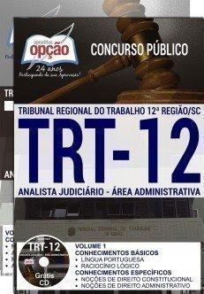 apostila trt12 ANALISTA ÁREA ADMINISTRATIVA