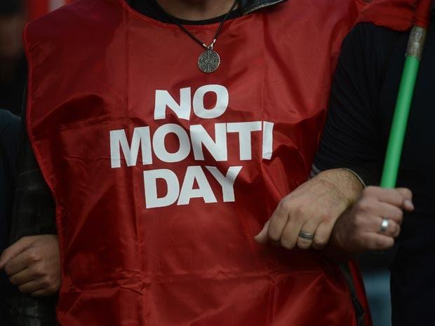 Organizadores estimam que aproximadamente 150 mil pessoas participaram do protesto (Foto: Filippo Monteforte/AFP)