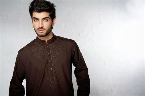 man wear eid kurta neck emroidery  maaz jee newfashionelle