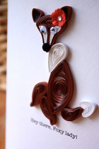 Foxy Lady Quilled Card