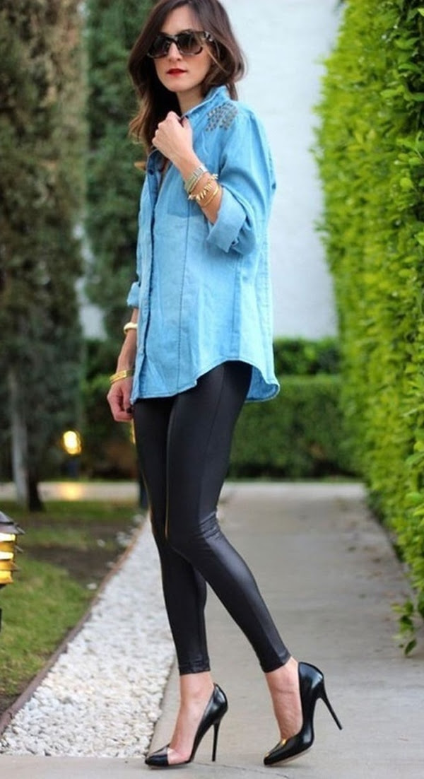 15 types of cute long shirts to wear with leggings