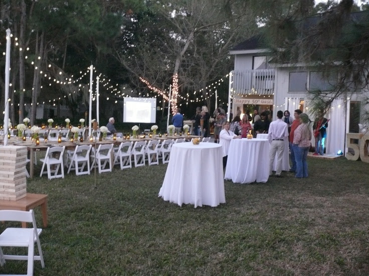 Outdoor 50th Birthday Party Ideas