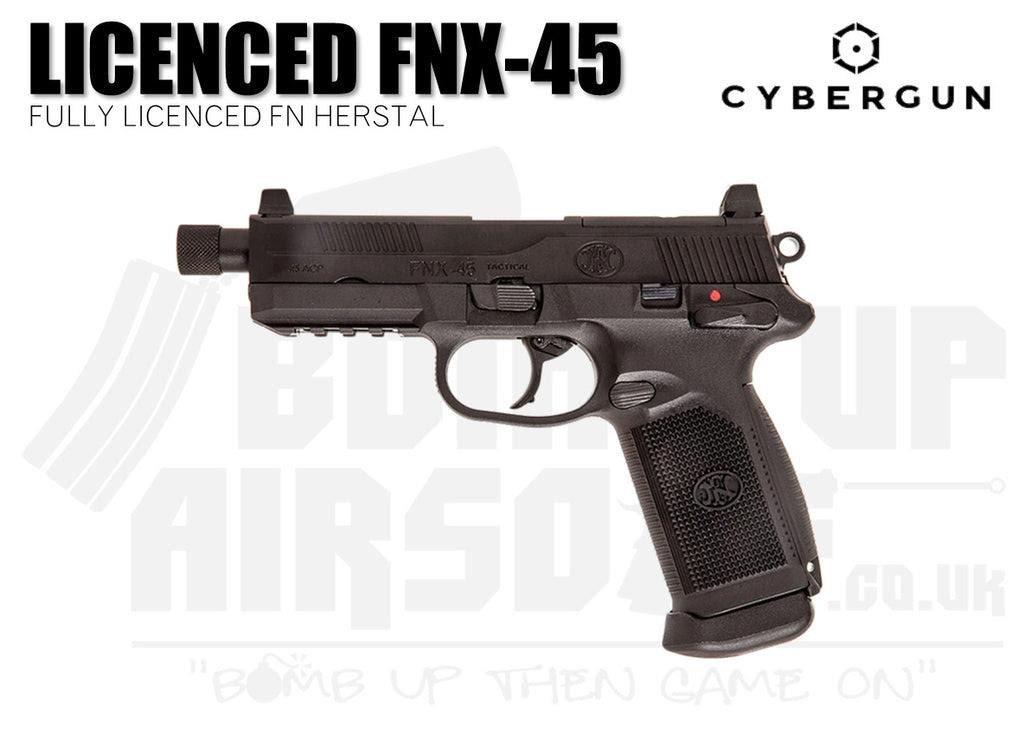 Cybergun Fn Herstal Fnx 45 Gbb Airsoft Pistol Black Bomb Up Airsoft