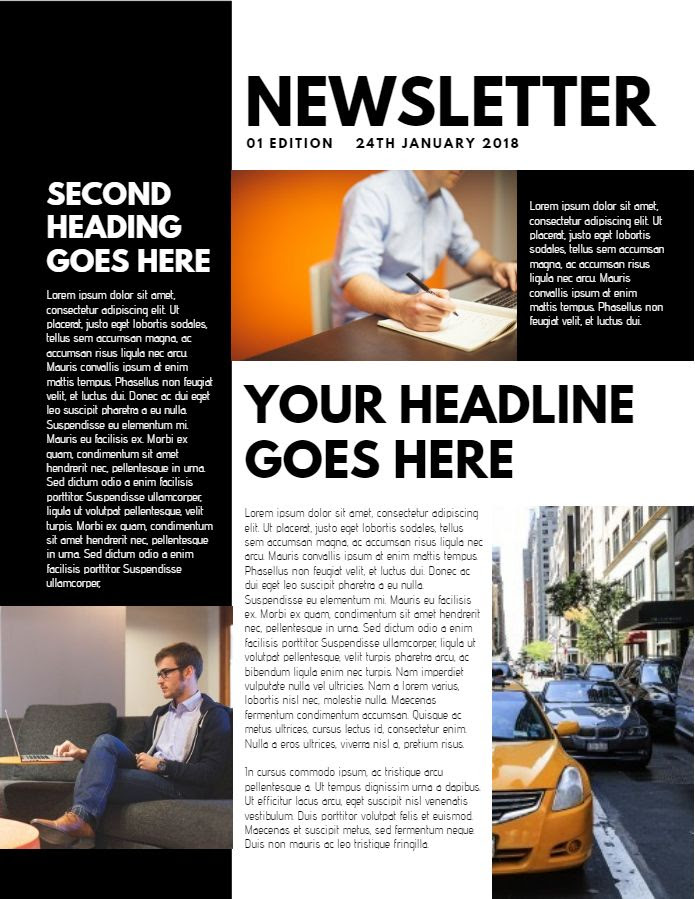 Newsletter Sample Design Click To Customize Newsletter