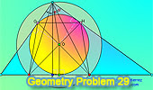 Problema 29: Triángulo rectángulo, Altura, Bisectriz, Incentro, Circuncentro, Inradio.