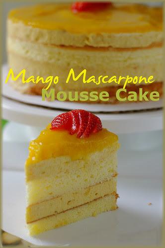 mango mascarpone mousse cake