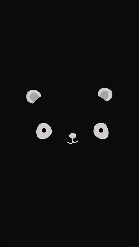 ag cute minimal panda dark illust art papersco
