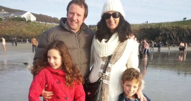 Karen O'Reilly with her husband Brian and children Alannah (10) and Dylan (8)