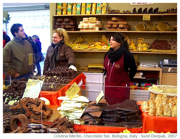 Chocolate fair of Bologna, Italy - images by Sunil Deepak, 2007