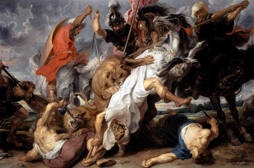 Image result for a lion hunt peter paul rubens