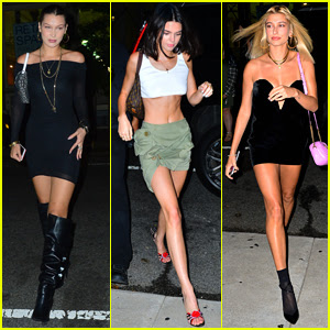 Bella Hadid, Kendall Jenner, & Hailey Baldwin Enjoy Girls Night Out in NYC