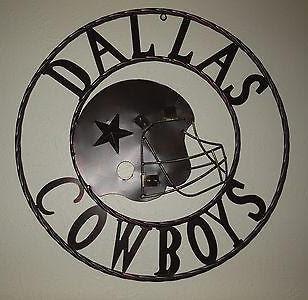 24 32 Dallas Cowboys Metal Wall Art Western Home Decor Vintage Rust Egifthome Com