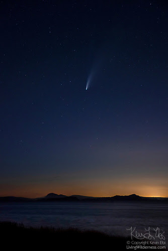Comet Over Skagit Bay, Camano Island, Washington
