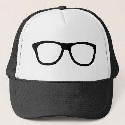 GLASSES TRUCKER HAT