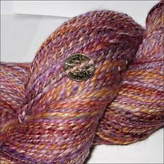 Lisbon Merino-silk handspun, close up