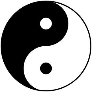This is a version of the yin-yang symbol or Ta...