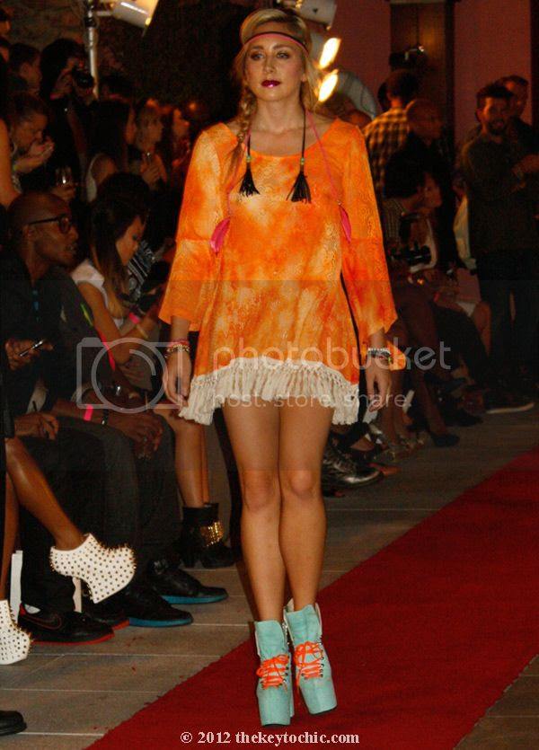 Gypsy Junkies spring 2013 clothing, Gypsy Junkies orange fringe dress