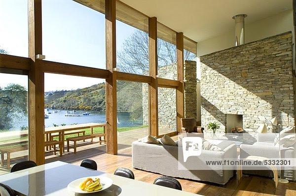 Fenster,groß,große,modern,Wohnzimmer,Zimmer - Lizenzfreies ...