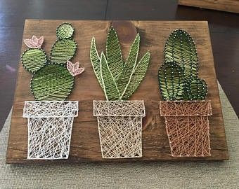 Brighten up your space with some DIY string art for your walls!