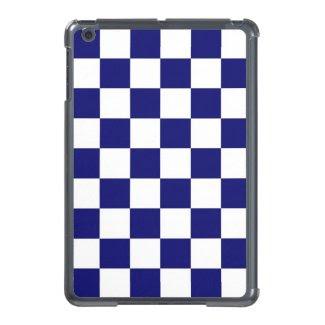 Checkered Navy and White iPad Mini Case