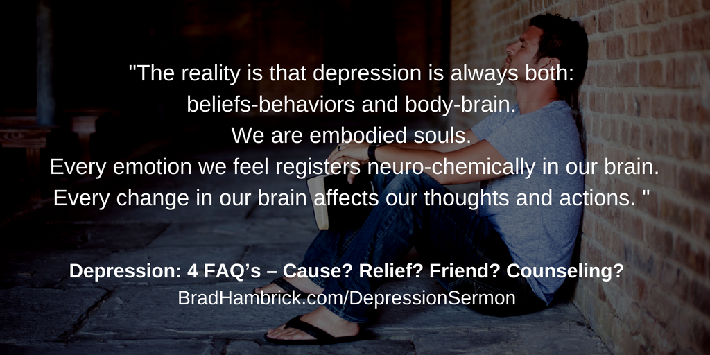 Depression: 4 FAQ's - Cause? Relief? Friend? Counseling ...