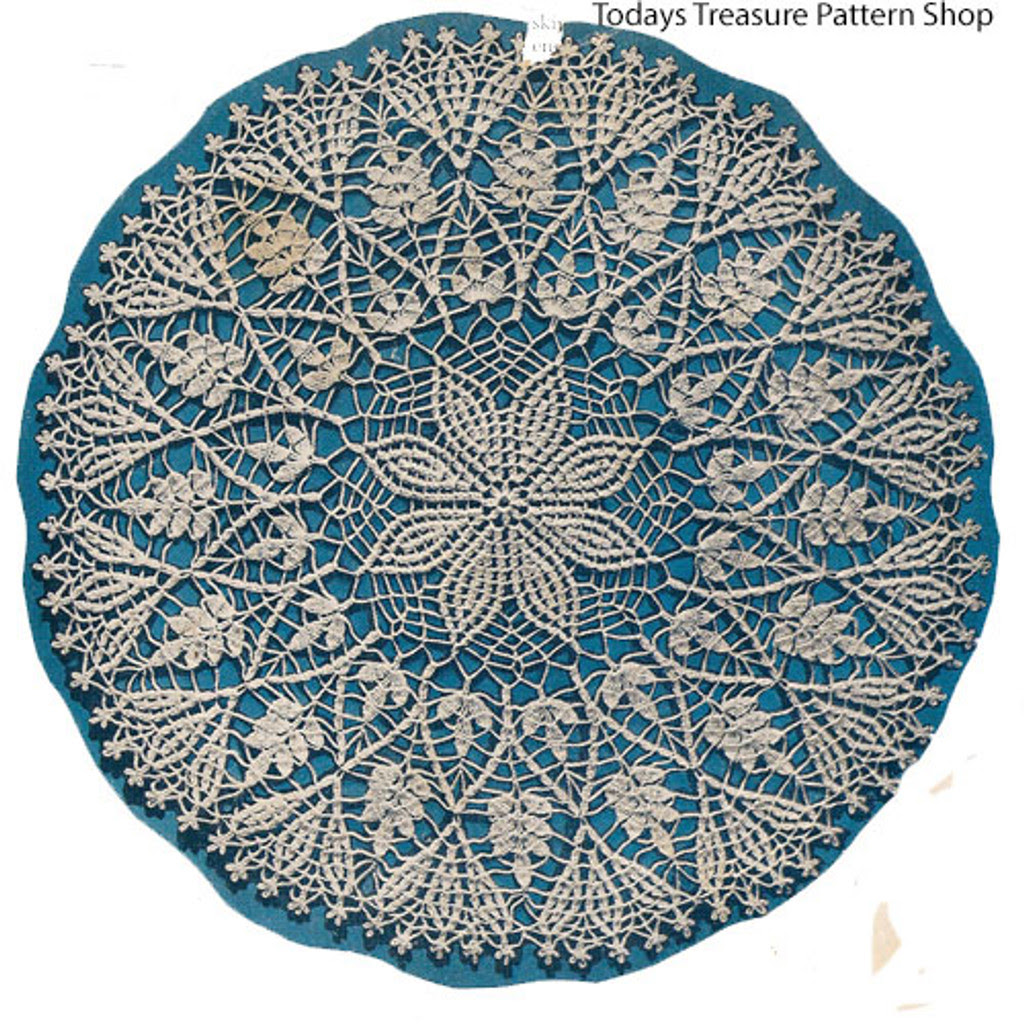Large Flower Doily Crochet Pattern in Cluster Stitch