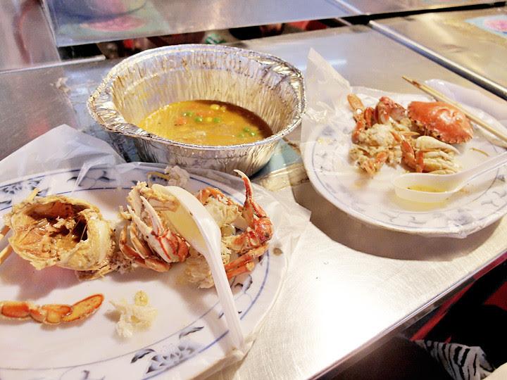 Raohe Night Market crab stall finished